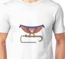 American Eagle Clutching Towing J Hook USA Flag Retro Unisex T-Shirt