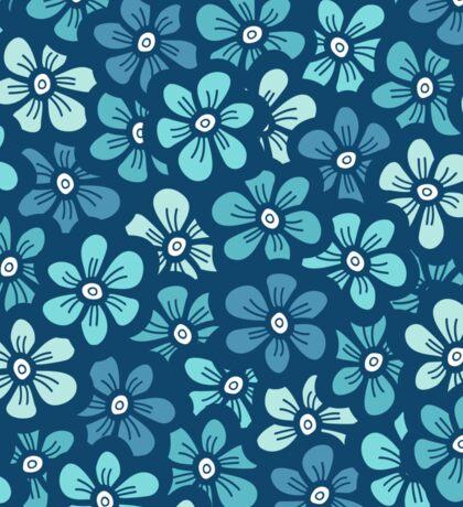 Cute blue flower  pattern Sticker