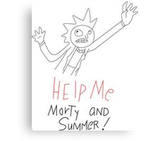 Help Me Morty and Summer! - Rick and Morty Canvas Print