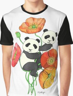 Poppies & Pandas Graphic T-Shirt