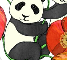 Poppies & Pandas Sticker