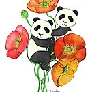 Poppies & Pandas by micklyn