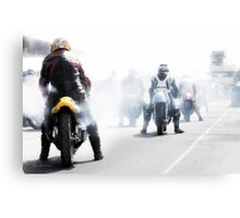Classic race bikes by Gaye G Canvas Print