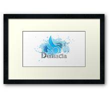 Abstract Demacia Logo Framed Print