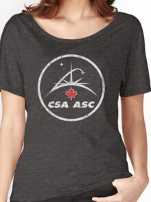 Vintage Emblem Canadian Space Agency Women's Relaxed Fit T-Shirt