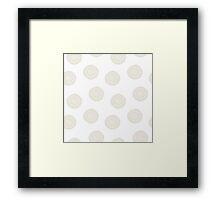simple doodle white flower pattern Framed Print