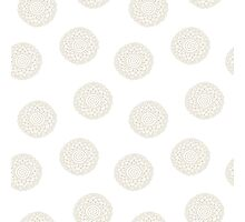 simple doodle white flower pattern Photographic Print