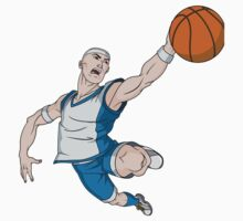 Basketball player pose Kids Tee