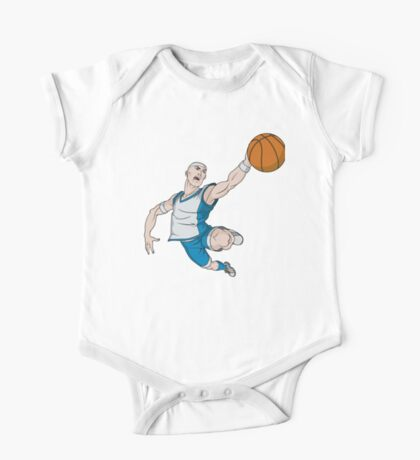 Basketball player pose One Piece - Short Sleeve