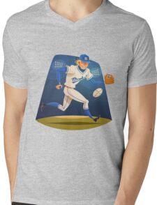 Funny cartoon baseball sporting design Mens V-Neck T-Shirt