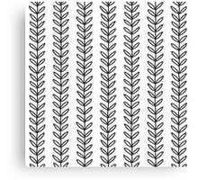 simple leaf seamless pattern Canvas Print