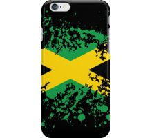 Jamaica Flag Ink Splatter iPhone Case/Skin