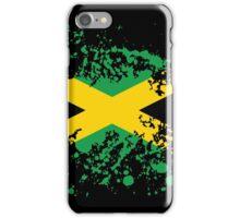 Jamaica Flag Ink Splatter iPhone Case/Skin