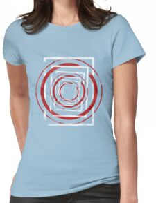 Circle Dimension Womens Fitted T-Shirt