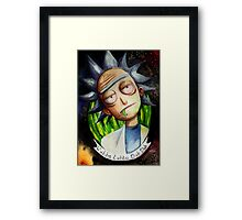 Rick (without Morty) Watercolor Framed Print
