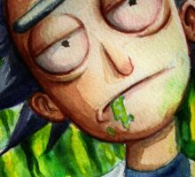Rick (without Morty) Watercolor Sticker