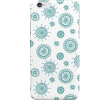 simple  doodle flower blue pattern iPhone Case/Skin