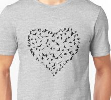 Flock of Birds Heart Unisex T-Shirt