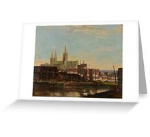 ANDREW F. AFFLECK () A continental port Greeting Card