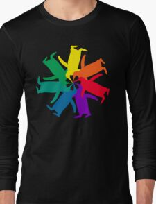Penguin Color Wheel Long Sleeve T-Shirt
