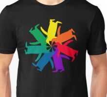 Penguin Color Wheel Unisex T-Shirt
