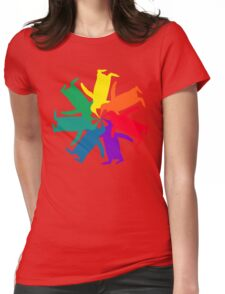 Penguin Color Wheel Womens Fitted T-Shirt