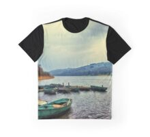 Boats on Esthwaite Graphic T-Shirt