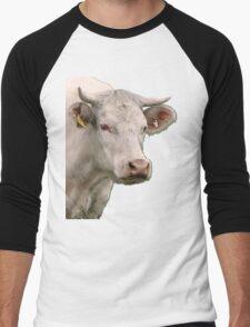 Big white cow Men's Baseball ¾ T-Shirt