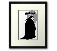 Sad vampire without reflection  Framed Print