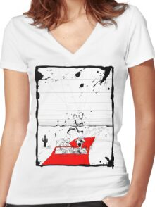 Fear and Loathing in Muppet Vegas Women's Fitted V-Neck T-Shirt