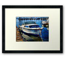 Boat at Berth Framed Print