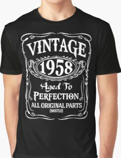 1958 - Aged To Perfection Graphic T-Shirt
