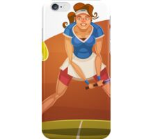 Funny cartoon tennis sporting design iPhone Case/Skin