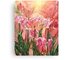 Healing Tulip Garden Canvas Print