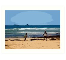 Surf's Up at Constantine Bay Art Print