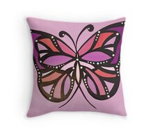 Purple butterflies! Throw Pillow