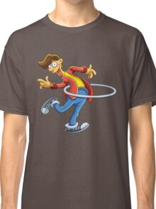 Cartoon boy playing with ring Classic T-Shirt