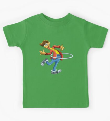 Cartoon boy playing with ring Kids Tee