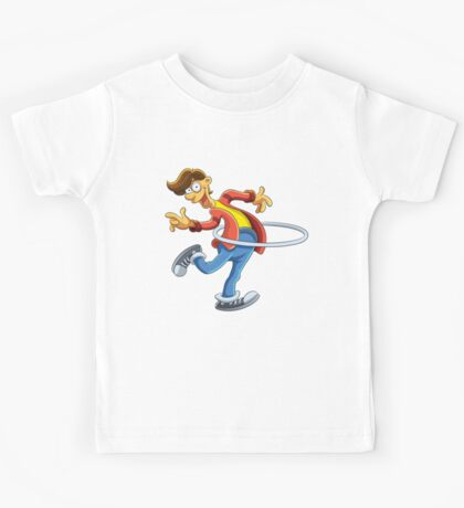 Cartoon boy playing with ring Kids Tee