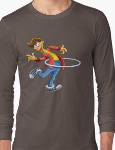 Cartoon boy playing with ring Long Sleeve T-Shirt