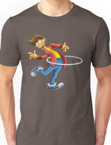 Cartoon boy playing with ring Unisex T-Shirt