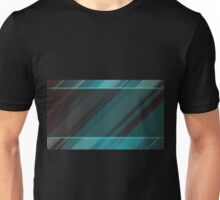 Glossy Black and Blue Striped Pattern Unisex T-Shirt