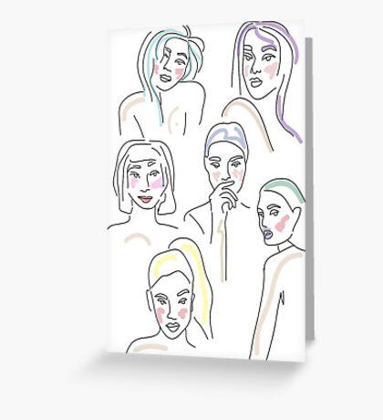 sketchy faces Greeting Card