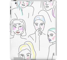 sketchy faces iPad Case/Skin