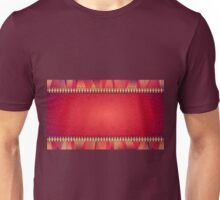 Glossy Red Laced Geometric Pattern Unisex T-Shirt
