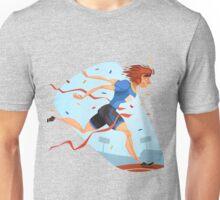 Funny cartoon athletics sporting design Unisex T-Shirt
