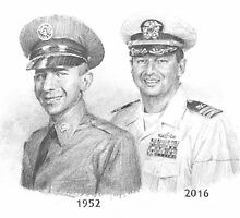 military father & son drawing by Mike Theuer