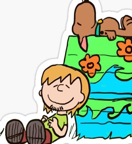 SNOOPY-DOO - SHAGGY BROWN Sticker