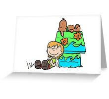SNOOPY-DOO - SHAGGY BROWN Greeting Card