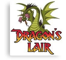 Dragons Lair - Dragon White Variant Canvas Print
